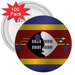 Flag Of Swaziland 3  Buttons (100 pack)