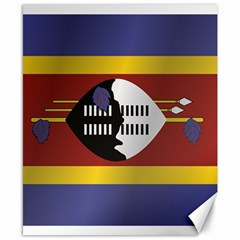 Flag Of Swaziland Canvas 8  x 10