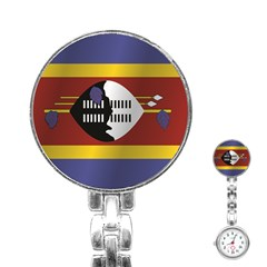Flag Of Swaziland Stainless Steel Nurses Watch
