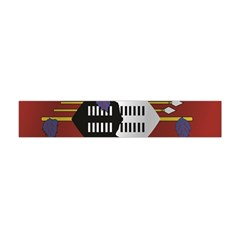 Flag Of Swaziland Flano Scarf (Mini)