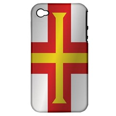 Flag Of Guernsey Apple iPhone 4/4S Hardshell Case (PC+Silicone)
