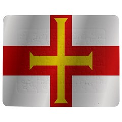 Flag Of Guernsey Jigsaw Puzzle Photo Stand (Rectangular)