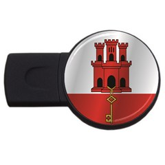 Flag Of Gibraltar USB Flash Drive Round (1 GB)