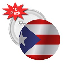 Flag Of Puerto Rico 2.25  Buttons (10 pack)