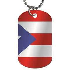 Flag Of Puerto Rico Dog Tag (Two Sides)