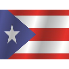 Flag Of Puerto Rico Birthday Cake 3D Greeting Card (7x5)