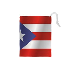Flag Of Puerto Rico Drawstring Pouches (Small)