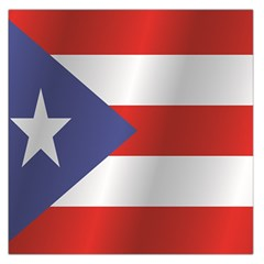 Flag Of Puerto Rico Large Satin Scarf (Square)