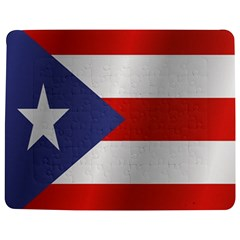 Flag Of Puerto Rico Jigsaw Puzzle Photo Stand (Rectangular)