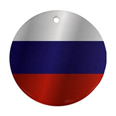 Flag Of Russia Round Ornament (Two Sides)