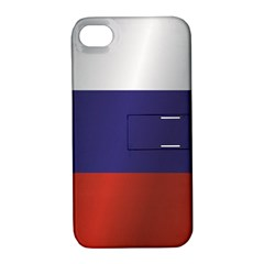 Flag Of Russia Apple iPhone 4/4S Hardshell Case with Stand