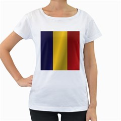 Flag Of Romania Women s Loose-Fit T-Shirt (White)