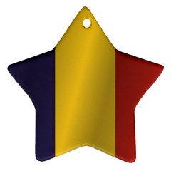 Flag Of Romania Star Ornament (Two Sides)