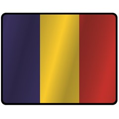 Flag Of Romania Double Sided Fleece Blanket (Medium)