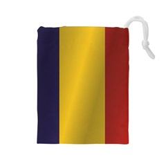 Flag Of Romania Drawstring Pouches (Large)