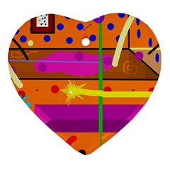 Orange abstraction Ornament (Heart)