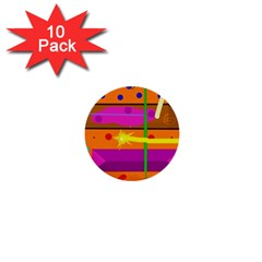 Orange abstraction 1  Mini Buttons (10 pack)