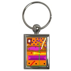 Orange abstraction Key Chains (Rectangle)