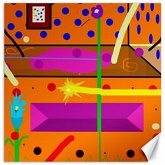 Orange abstraction Canvas 12  x 12
