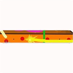 Orange abstraction Small Bar Mats