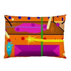 Orange abstraction Pillow Case