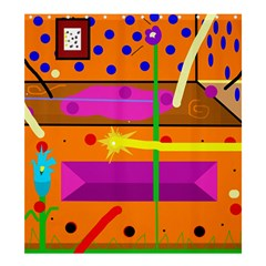 Orange abstraction Shower Curtain 66  x 72  (Large)