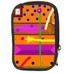Orange abstraction Compact Camera Cases