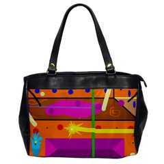 Orange abstraction Office Handbags