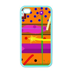Orange abstraction Apple iPhone 4 Case (Color)