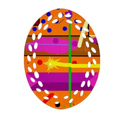 Orange abstraction Ornament (Oval Filigree)
