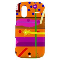 Orange abstraction HTC Amaze 4G Hardshell Case