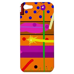 Orange abstraction Apple iPhone 5 Hardshell Case