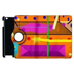 Orange abstraction Apple iPad 2 Flip 360 Case