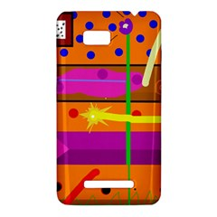 Orange abstraction HTC One SU T528W Hardshell Case