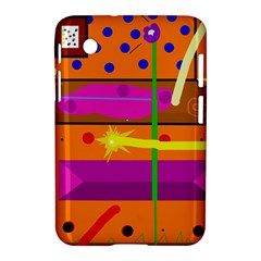 Orange abstraction Samsung Galaxy Tab 2 (7 ) P3100 Hardshell Case