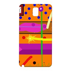 Orange abstraction Samsung Galaxy Note 3 N9005 Hardshell Back Case