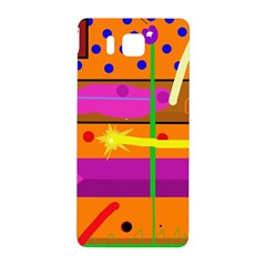 Orange abstraction Samsung Galaxy Alpha Hardshell Back Case