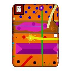 Orange abstraction Samsung Galaxy Tab 4 (10.1 ) Hardshell Case