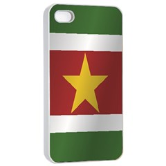 Flag Of Suriname Apple iPhone 4/4s Seamless Case (White)