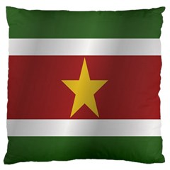 Flag Of Suriname Standard Flano Cushion Case (One Side)