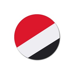 Flag Of Principality Of Sealand Rubber Round Coaster (4 pack)
