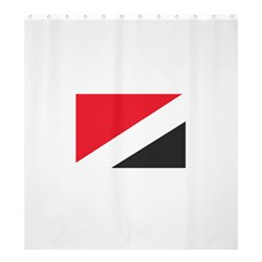 Flag Of Principality Of Sealand Shower Curtain 66  x 72  (Large)