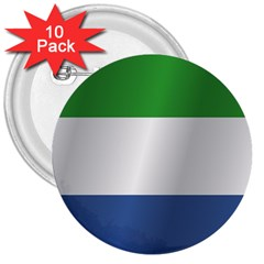 Flag Of Sierra Leone 3  Buttons (10 pack)