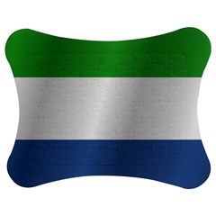 Flag Of Sierra Leone Jigsaw Puzzle Photo Stand (Bow)