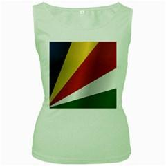 Flag Of Seychelles Women s Green Tank Top