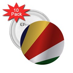 Flag Of Seychelles 2.25  Buttons (10 pack)