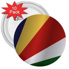Flag Of Seychelles 3  Buttons (10 pack)
