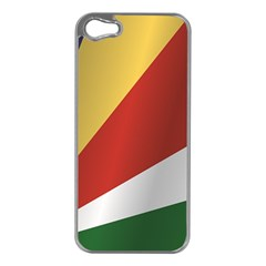 Flag Of Seychelles Apple iPhone 5 Case (Silver)