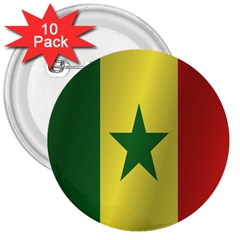 Flag Of Senegal 3  Buttons (10 pack)