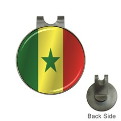 Flag Of Senegal Hat Clips with Golf Markers